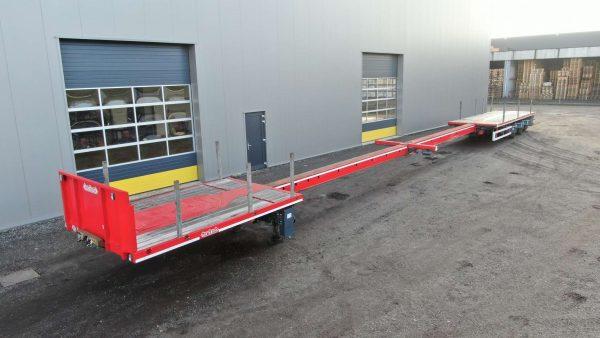 Mega remolque de 3 ejes | altura king pin 950 mm |  extensible hasta 28,8 m | carga útil 36,6 toneladas