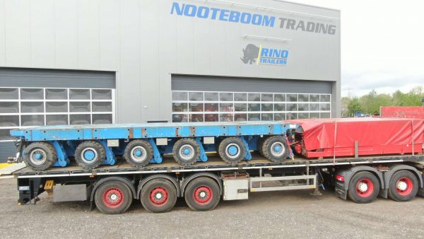 Heavy duty 3 axle flatbed for concentrated load   with twistlock   payload 36 ton