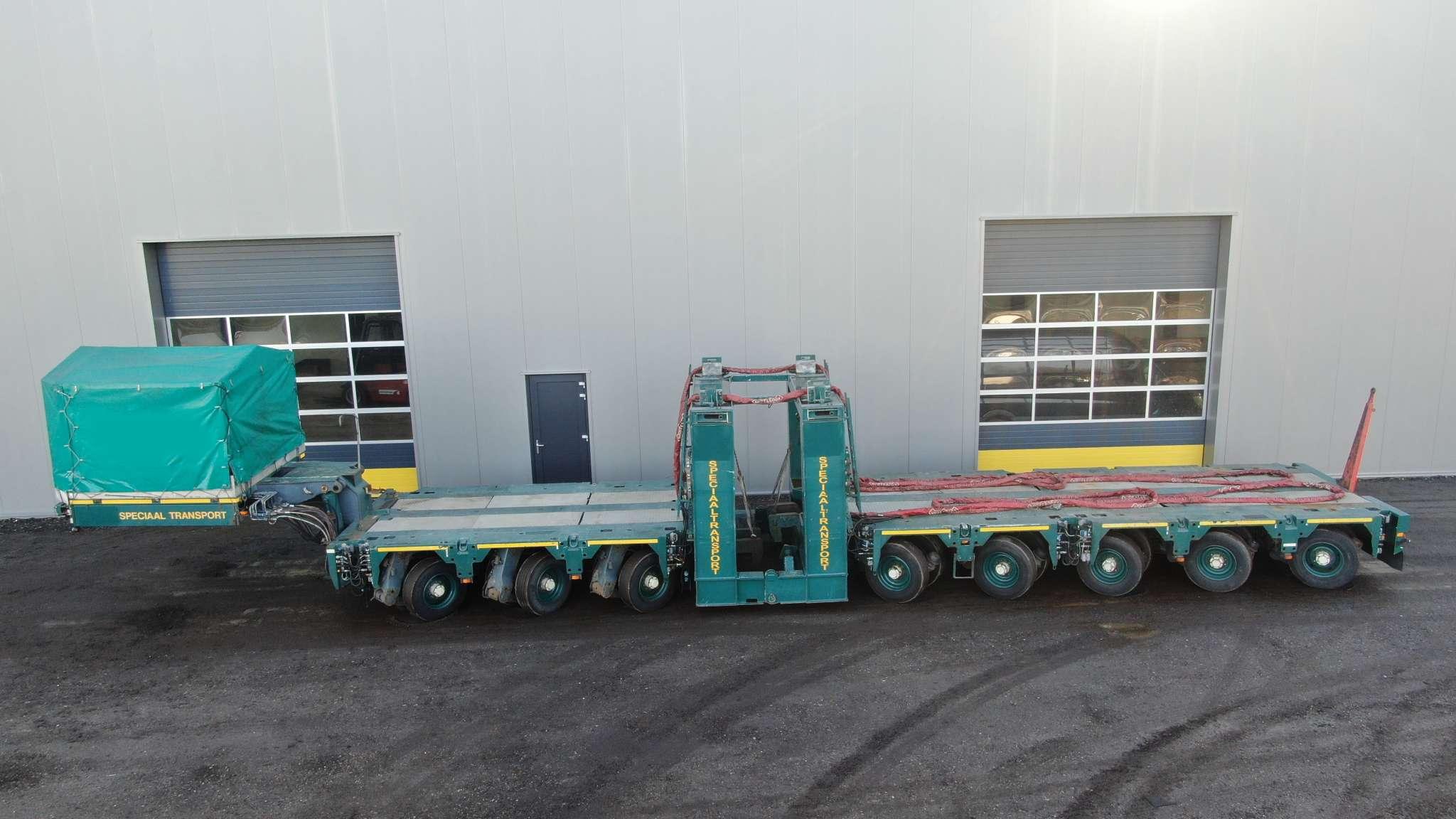 Eurocombi Scheuerle | Zwanenhals | 2+3+3 aslijnen | laadvermogen  112 ton | Torenadaptoren optioneel