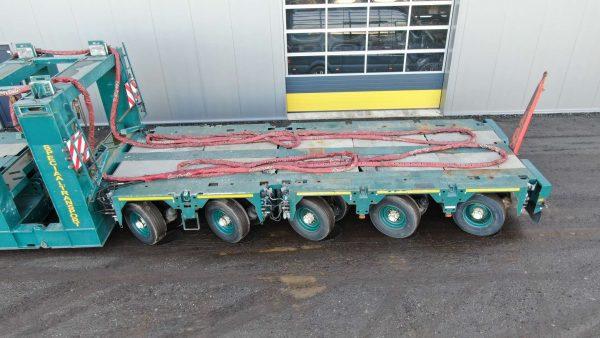 Eurocombi Scheuerle | Gooseneck | 2 + 3 + 3 axis lines | load capacity max 112 tons | Tower adapters optional