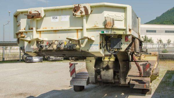 Semi-remorque | 4 essieux | col de cygne amovible | extensible à 13 m | charge utile 66 t