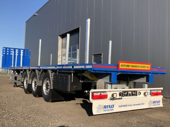3-axle flatbed  trailer, 2 king pin heights