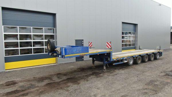 5 assige Semi Dieplader |uitschuifbaar tot15,6 meter |laadvermogen 65 ton