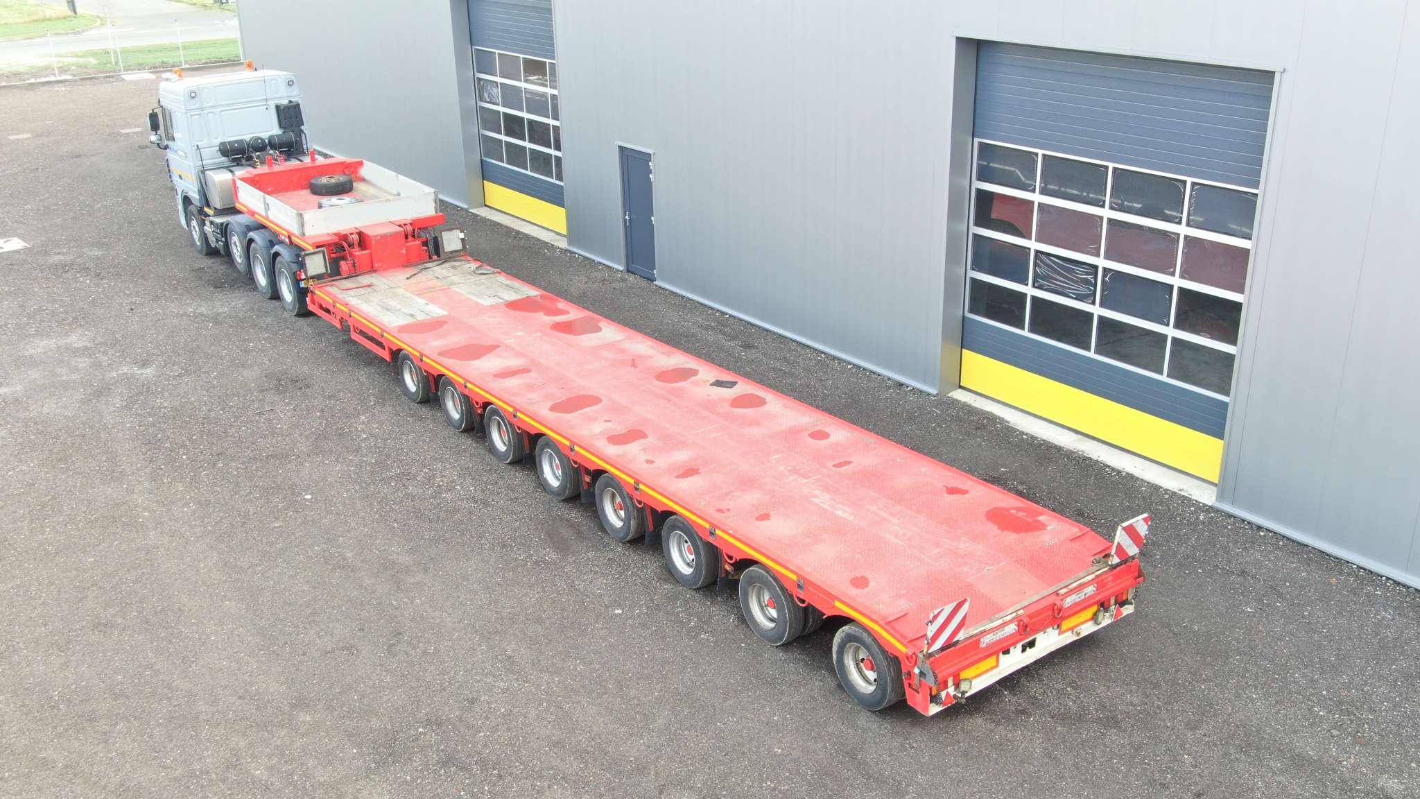 8 Assige semi dieplader | laadvloer uitschuifbaar tot 23 meter | laadvermogen 89 ton
