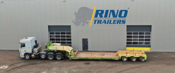 3 assige dieplader voor machine transport met een afneembare zwanenhals | laadvloerlengte 8,5 m | laadvermogen 50 ton