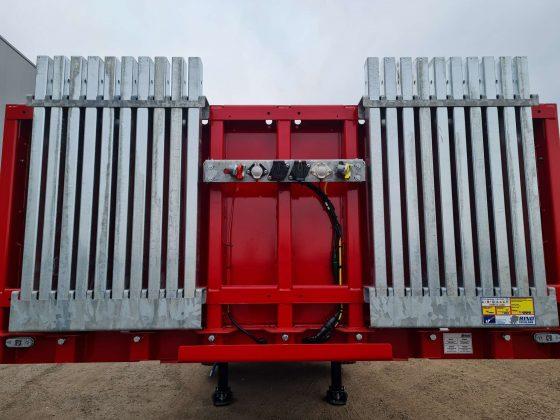 3 Assige balast trailer, laadvloerlengte 10 m, 1ste & 3de as gestuurd