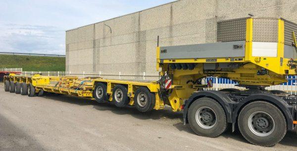 Goldhofer 3 bed 5 remorque surbaissée type STHP/ XLE | extensible jusqu'à 13,75 m | charge utile 90 tonnes