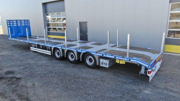 RINO® 3 axle mega machine trailer   extendable   superlight   payload 36,6 tons