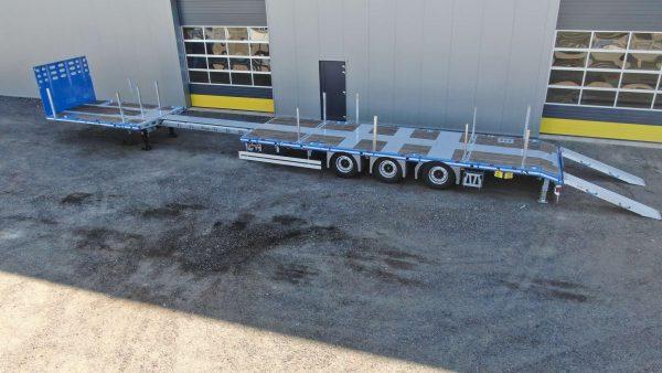 RINO® 3AXLE MEGA MACHINE TRAILER   EXTENDABLE TILL 17.5 M  SUPERLIGHT   PAYLOAD 36,6 TON   3 UNITS ON STOCK