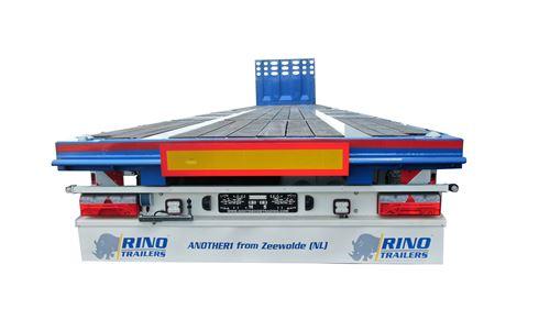 3 Assige vlakke mega trailer   2 rijstanden   laadvermogen 38 ton