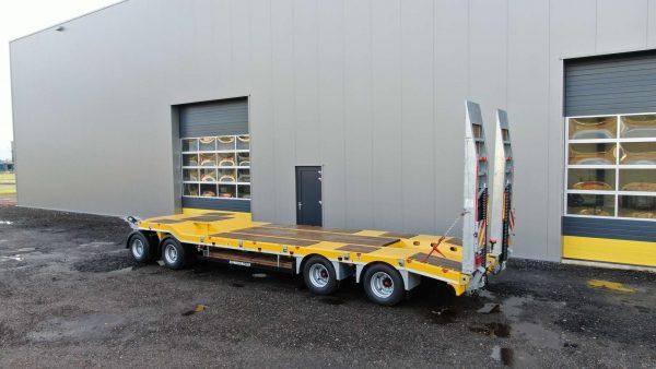 4 Assige diepladeraanhangwagen 32 ton laadvermogen