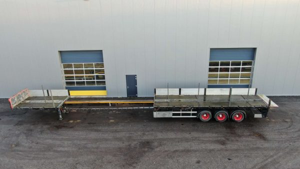 3 Axle flatbed trailer | extendable till 20,5 m | payload 38 tons