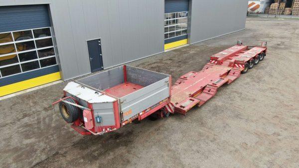 4 Axle Low-loader | detachable gooseneck | extendable till 12,6 m | payload 45 tons