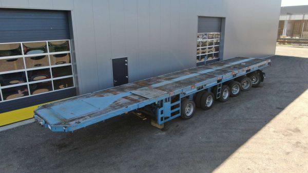 Plateau porte-contrepoids | 6 essieux | longueur du plateau 15 m | charge utile 85 t