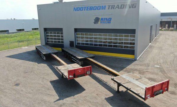 Semi remorque plateau | 3 essieux | extensible jusqu'à  20,5 m | charge utile 38 tonnes