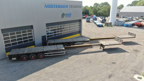 3 Axle flatbed trailer   extendable till 20,5 m   payload 38 tons