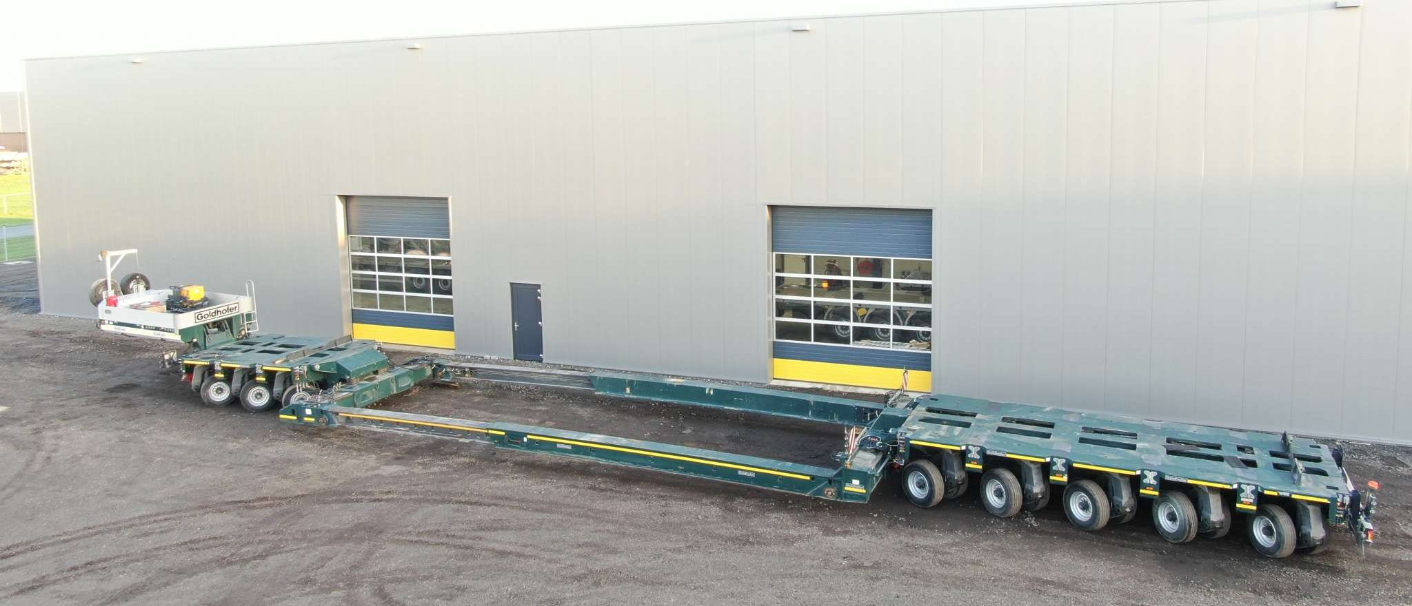 Goldhofer 3 bed 5 module type THP/SL-S with Vesselbed + Spine bed | extendable till 13 m | payload 94 – 116 tons