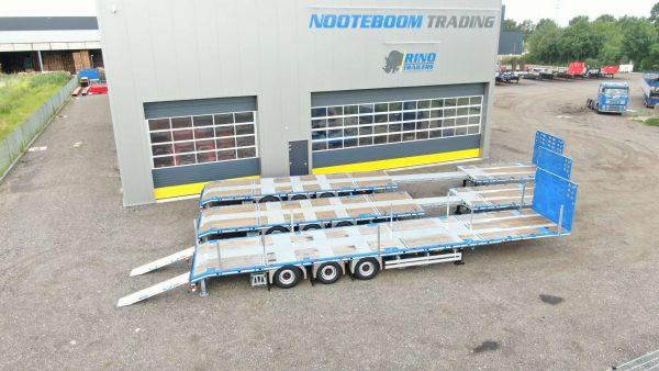 RINO® remorque mega plateau | 3 essieux | extensible | super léger | charge utile 36,6 tonnes