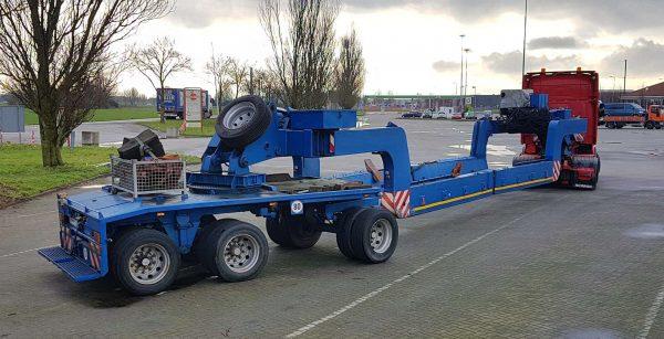 Scheuerle plateau-porte cuve avec dolly autovireur | charge utile 45 tonnes