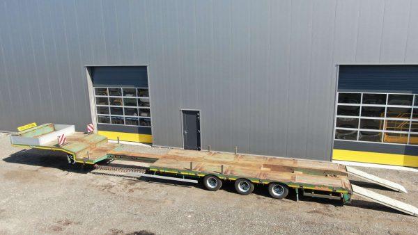 3 assige semi dieplader | gieksleuf | laadvloerlengte tot 12,2 m | laadvermogen 33,4 ton