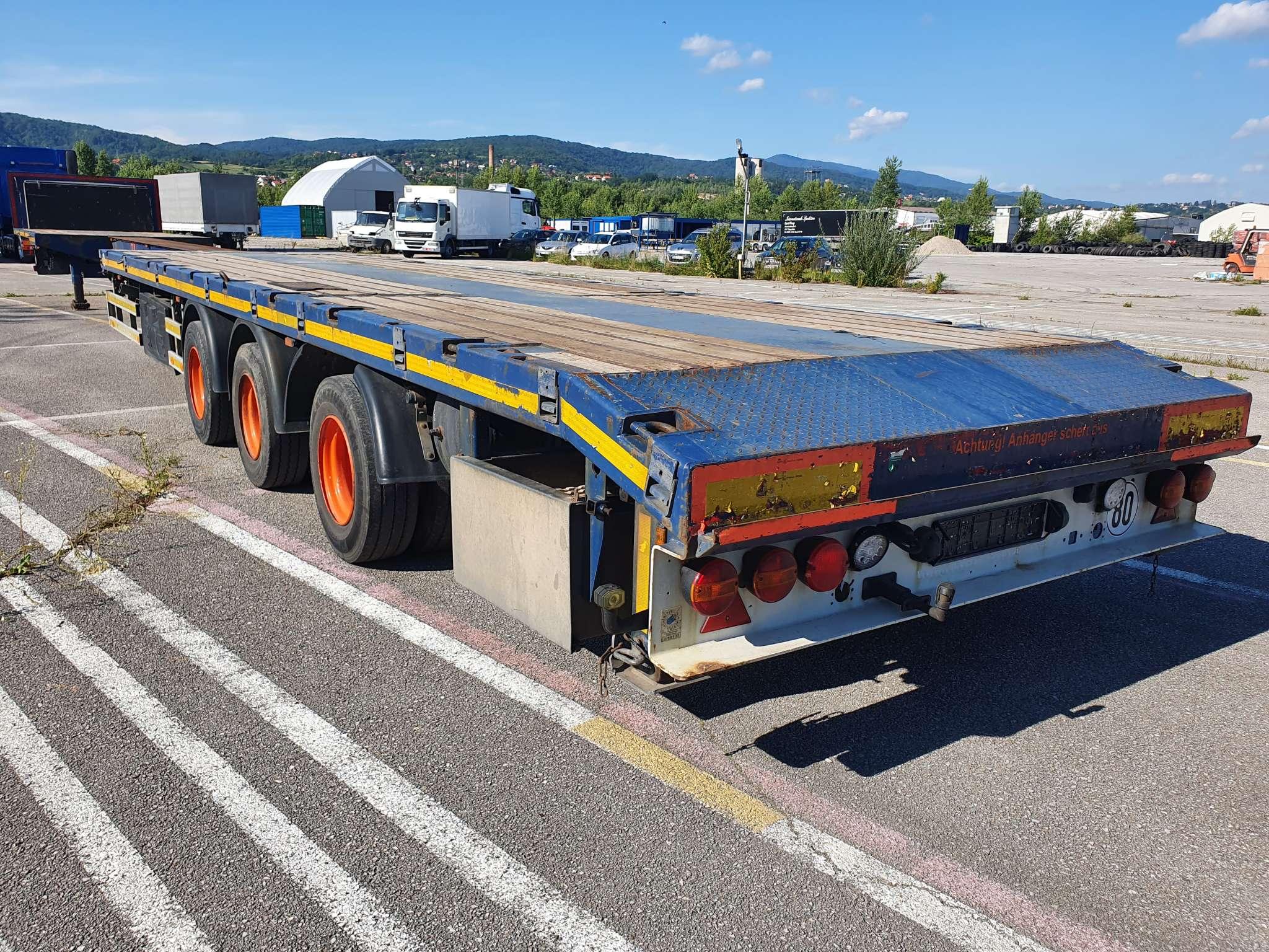 3 assige mega trailer | uitschuifbaar tot 20,6 m | laadvermogen 37 ton