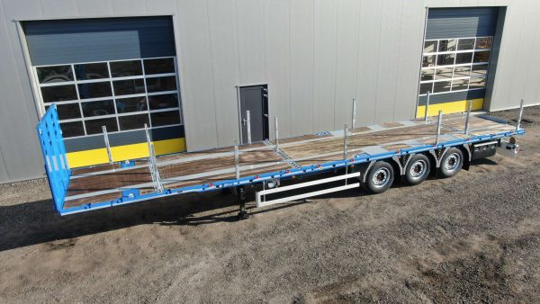 3-axle flatbed mega trailer | 2 king pin heights