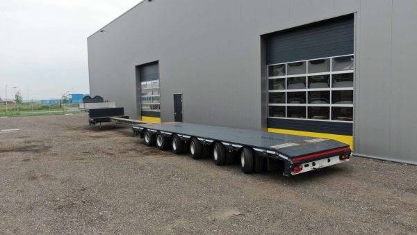 6 Axle semi lowbed | loadfloor extendable till 19 m | payload 67 ton