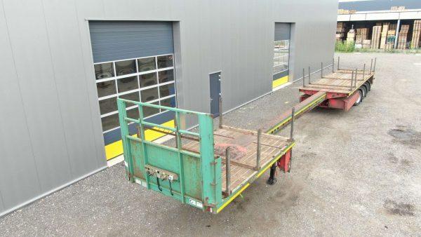 3 Assige teletrailer | hydraulisch gestuurd | uitschuifbaar tot 21,4 m | laadvermogen 36,5 t