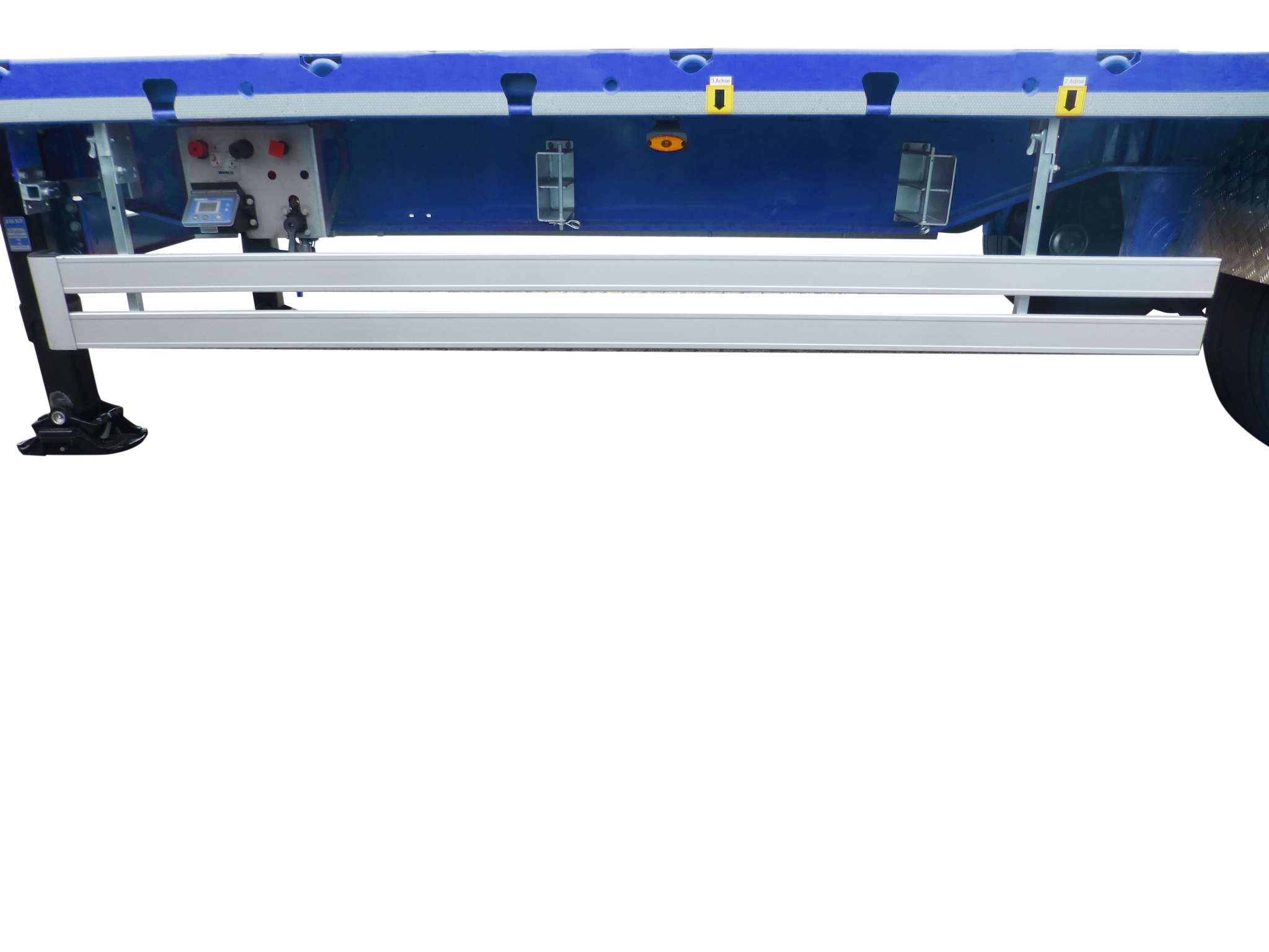 3-axle flatbed mega trailer with 2 king pin heights