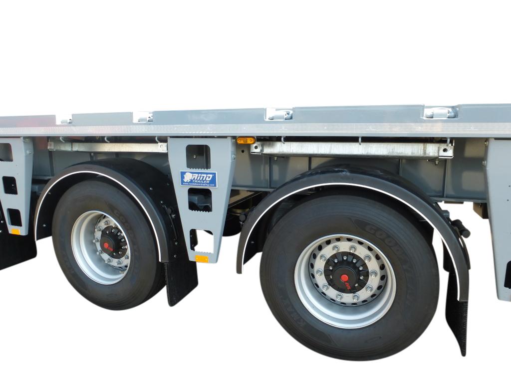 5 axle Ballast trailer   4 axles steered   loadfloor length 13,8 m   payload 63 ton