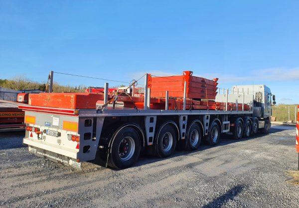 Ballast trailer   4 assen   gestuurd   laadvermogen 55 ton