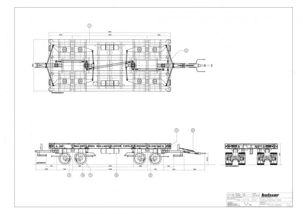 Buiscar | Industrial transporter | counter steered | payload 125 ton bij 6 km / h